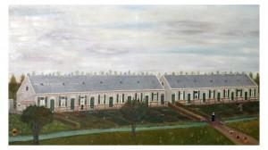 SON - Schilderij De Dertienhuizen Landzichtstraat