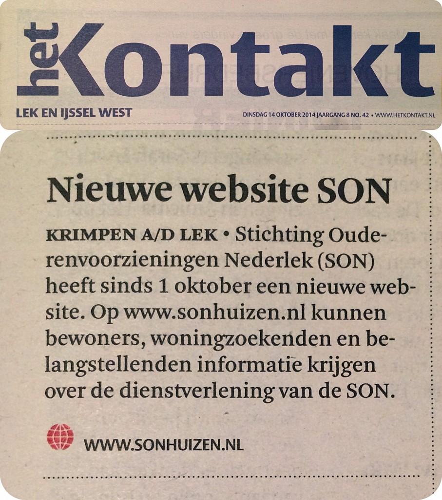 SON - Het Kontakt 14 oktober 2014